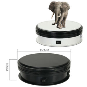 Electric 360 Rotating Turntable Jewelry Display Stand Toy Model Display Stand