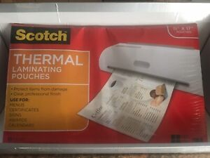 Scotch Thermal Laminating Pouches 11 4 X 17 4 25 pouches Tp3856 25