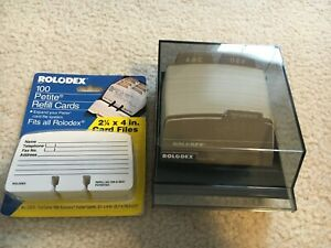 Brand New Rolodex Petite Address telephone File And Card Refills S 310c