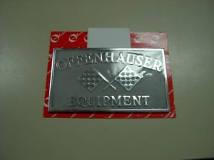 Nos Offy Offenhauser 3 Deuce Stromberg Flathead Heads 32 Car Club Racing Plaque