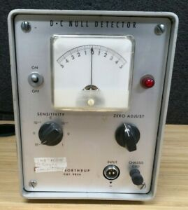 Leeds Northrup 9834 Dc Null Detector Electrical Test Unit Analog Panel Meter