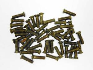 Vintage Nos Door Knob Side Knob Screws In Bulk Pack Of 50 9 24 X 1 2 Brass