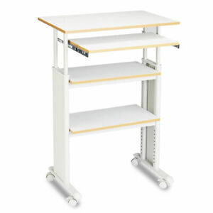 Adjustable Height Stand up Workstation 29 5w X 22d X 49h Gray