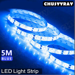 Cool Blue Waterproof 16ft 3528 Led Smd 600 Lights Flexible Strip Light 12v Car