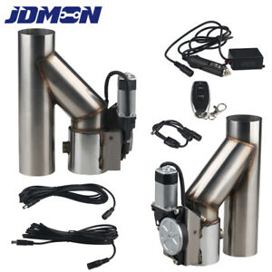 2 5 Dual Exhaust Cutout Valve Catback Y Pipe Electric Exhaust E Cut Out System
