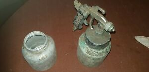 Used Vintage Compressed Air Spray Gun Untested Was Used For Car Paint
