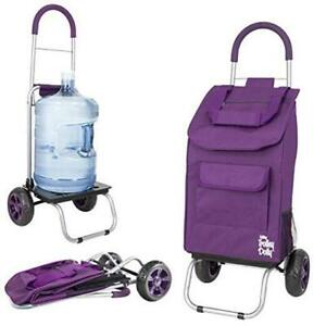 Trolley Dolly Purple Shopping Grocery Foldable Cart Purple