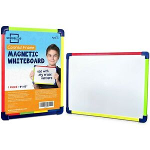 Scribbledo Colored Frame Magnetic Dry Erase White Board 9 X 12 Whiteboard