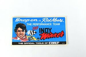 Snap on Tools Rick Mears Indy Tool Box Sticker Racing Decal Ssx1276 1988 Vintage