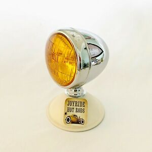 Hot Rod Vintage Style Fog Lamp Light 4 3 4 Od Amber Lens 12v