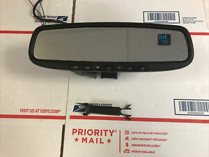 Gentex 453 Homelink Rear View Mirror Compass Temp Auto Dim Green Display
