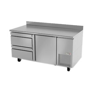 Fagor Refrigeration 68 Stainless Steel Worktop Refrigerator With Two Drawers