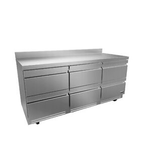 Fagor Refrigeration 73 Stainless Steel Three Section Worktop Refrigerator