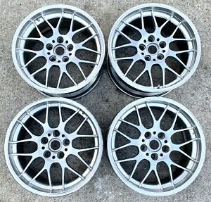 Bbs Rgr 18x8 5 Bmw 5x120 Forged Is38 Set Of 4 Bright Silver Read