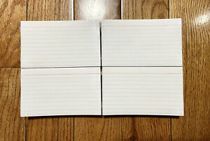 Brandnew Sealed 3x5 Inch Ruled Index Cards White Pack Of 100 Total 4 Packs