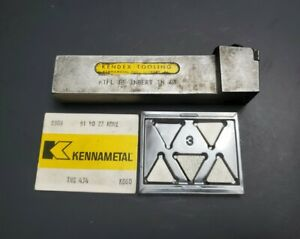 Kennametal 1 Indexable Turning Tool Holder New Inserts Tpg Tpu Machinist