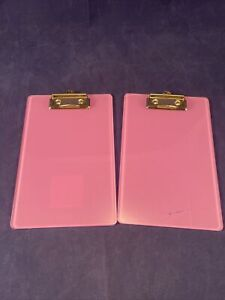 Staples Memo Sized Clipboards Pink 2pk