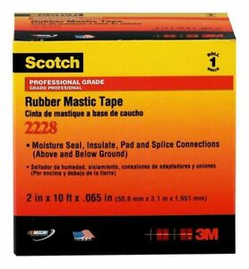 3m Scotch Rubber Mastic Tape 2228 2 In X 10 Ft 2 x10 Black Free Shipping