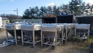 30 Cu ft Stainless Steel Sanitary Ibc Tote Tank Portable On Wheels Cone Bottom