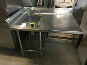 Sink Prep Sink With Large Table 52 Wide 36 deep 36 high