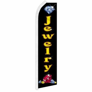 jewelry Advertising Super Flag Swooper Banner Business Sign Gold Diamond Ring