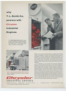 1958 Chrysler Industrial Engines Ad T L Smith Ready Mix Concrete Application