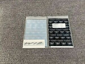Bentley Gt Gtc Flying Spur W12 Fender Wing Badge Emblem X 2 3w8853675d