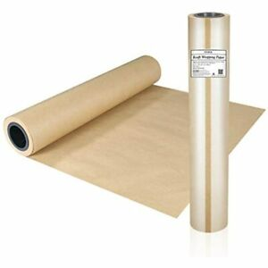 Stobok Brown Kraft Paper Roll Natural Recycled Wrapping 17 8 Inch X 100 Ft For