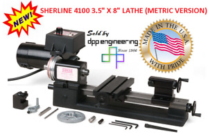 Sherline 4100 3 5 X 8 Lathe metric for Inch See Pn 4000