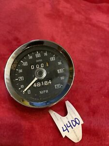 Vintage Mg Used Smiths Speedometer Mgb 72 74 120 Mph Untested
