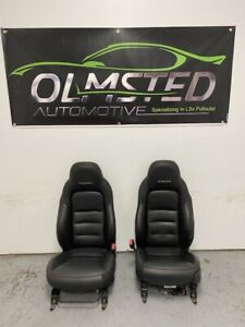 06 13 Corvette C6 Seats Black Leather Driver Passenger Gm Power Heated Z06 Gp