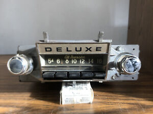 1966 1967 Chevy Ii Novadeluxe All Transistor Push Button Radio Cyp 7158
