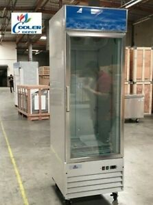 New Commercial One Glass Door Freezer Merchandiser Cabinet Nsf Etl Single
