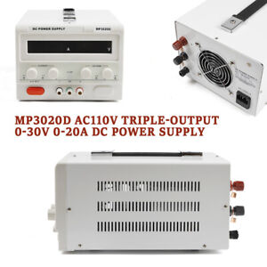 New 0 30v 0 20a Linear Dc Bench lab Power Supply Regulated Variable Led Mp3020d