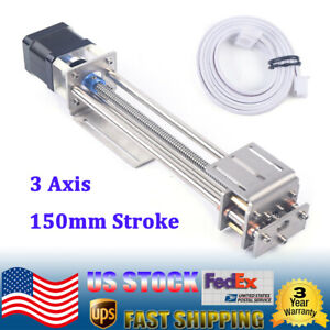 150mm Cnc Z Axis Slide 3 Axis Engraving Machine Mini Milling Linear Motion A4988