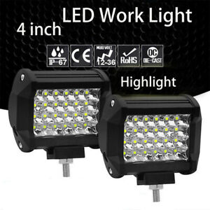 2x 240w Pods Led Work Light Spot Lights For Truck Off Road Tractor Square