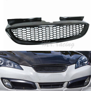 For Hyundai Genesis Coupe 2008 2012 Carbon Fiber Front Honeycomb Grille Grill