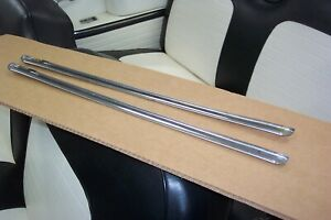 1956 Ford Crown Victoria Sunliner Pair Moldings On Rear Of Front Seatbacks 56