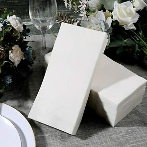 Linen Feel Disposable guest Towels Packages Of 120 Napkins Each