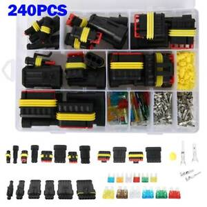 240x Sets Waterproof Car Auto Electrical Wire Connector Plug 1 6pin Way Plug Kit