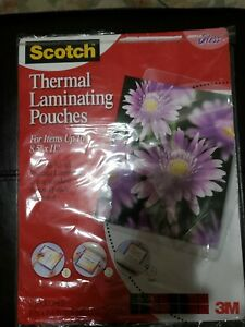 Scotch Thermal Laminating Pouches 8 9 X 11 4 inches 20 pack