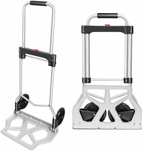 Portable Heavy Duty Aluminum Folding Hand Truck And Dolly Two wheel Luggage Cart