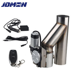 3 Inch Exhaust E cut Out Dual Valve Electric Y Pipe With Controller Remote Kit