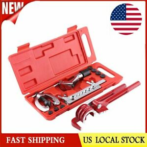 11pcs Pipe Flaring Kit Brake Fuel Tube Repair Flare With Cutter Bending Tool Set
