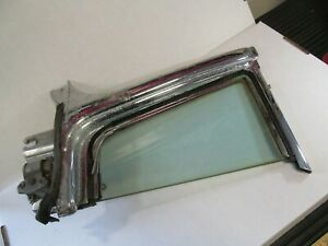 1954 1956 Oldsmobile 98 88 Holiday Coupe Vent Window Chrome Frame W Tint Glass