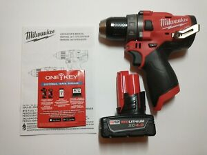 New Milwaukee 2503 20 M12 Fuel Brushless Drill Driver W 48 11 2440 4 0 Battery