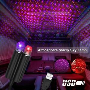 Usb Car Interior Led Lights Roof Atmosphere Starry Sky Star Night Projector Lamp