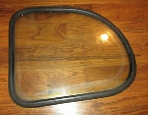 Original 1937 1938 Ford Deluxe Quarter Window With Gasket Original Ford Glass 3