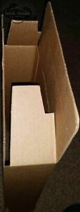 Corrugated Cardboard 9x6x3 Security Tab Packing Shipping Mailing Box 25 Pack