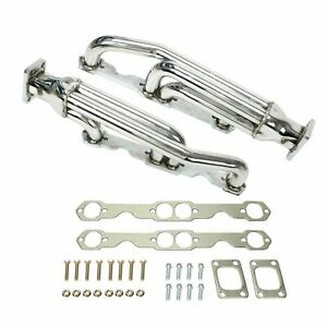Twin Turbo Exhaust Manifold New For Chevy Camaro Sbc 283 305 327 350 400 V8 T3